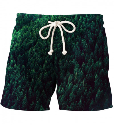 shorts with forest motive
