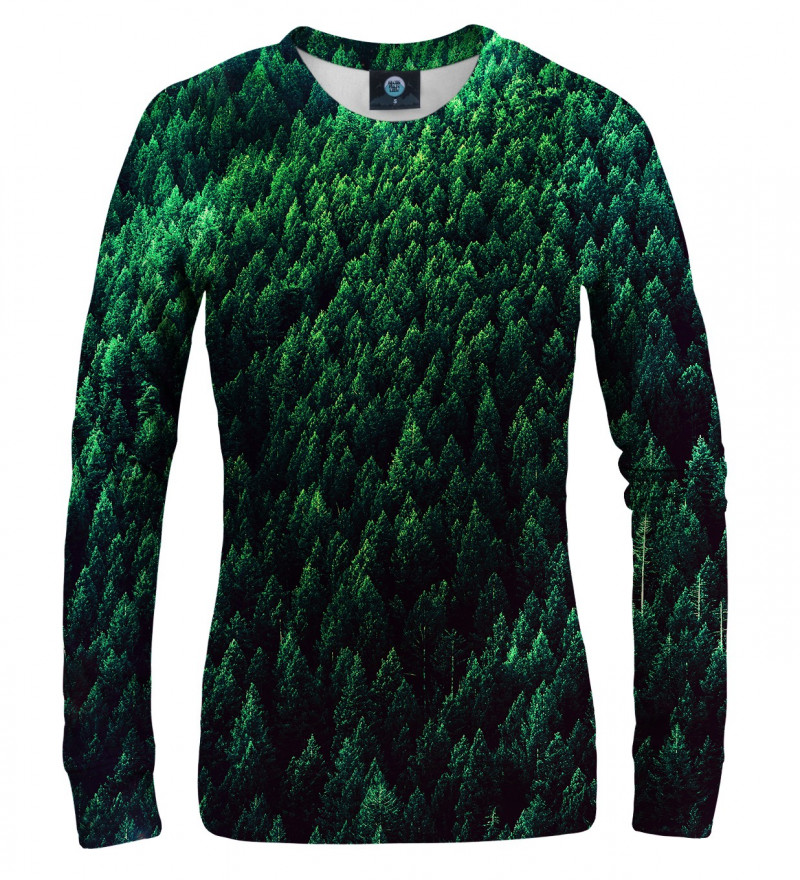 women sweatshirt with forest motive