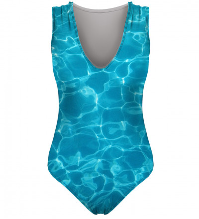 swimsuit with pool motive