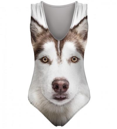 strój z motywem psa husky