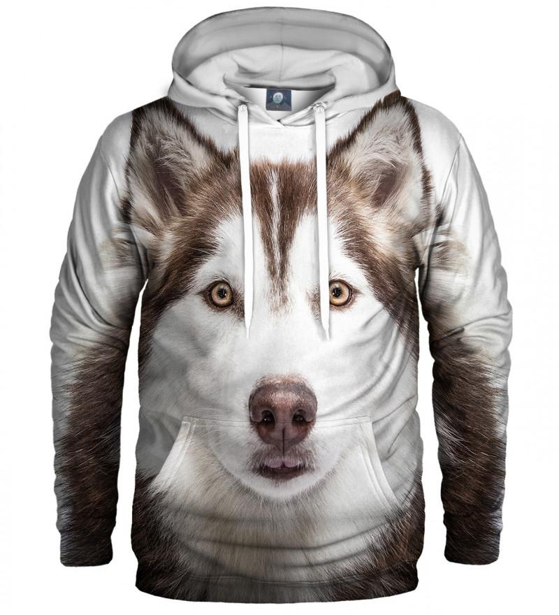 bluza z kapturem z motywem psa husky