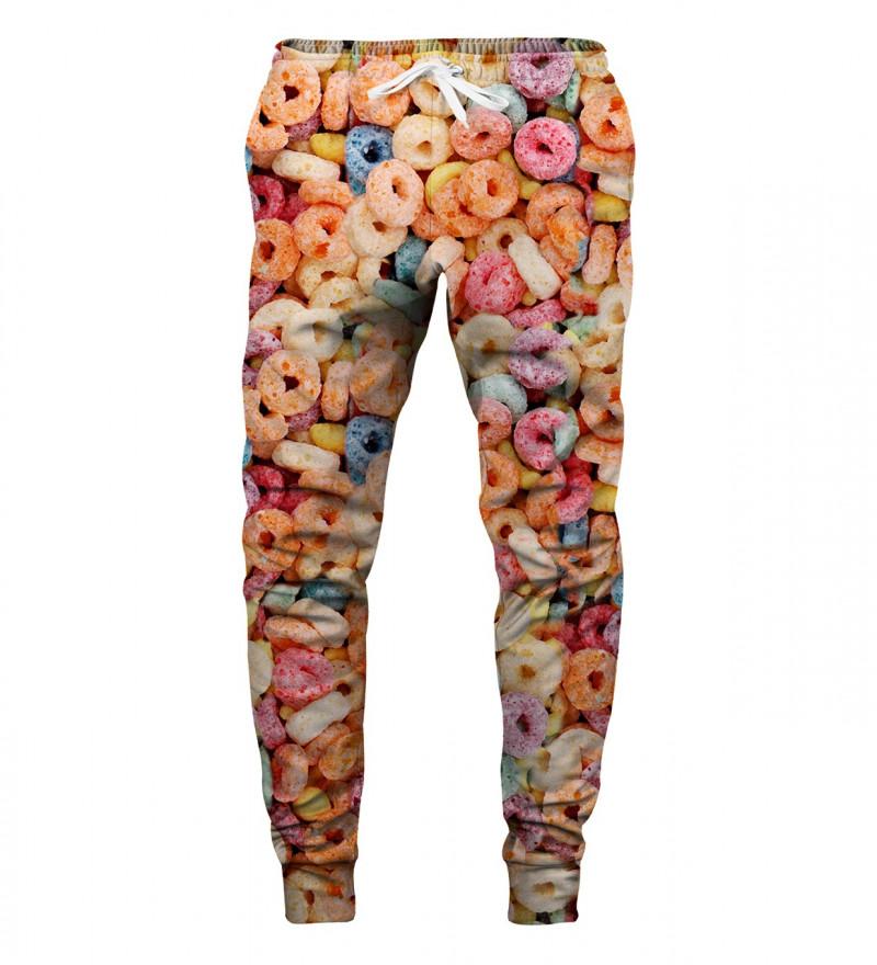 spodnie z motywem płatków śniadaniowych