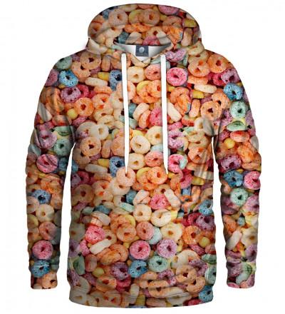 bluza z kapturem z motywem płatków śniadaniowych
