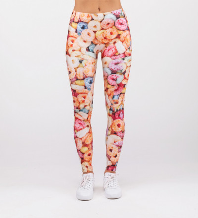 leggings with cereals motive
