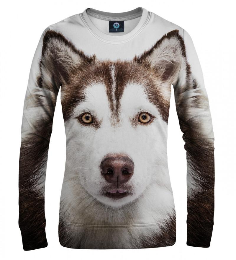 bluza z motywem psa husky