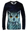 sweatshirt with owl motive