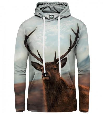 bluza z kapturem z motywem jelenia