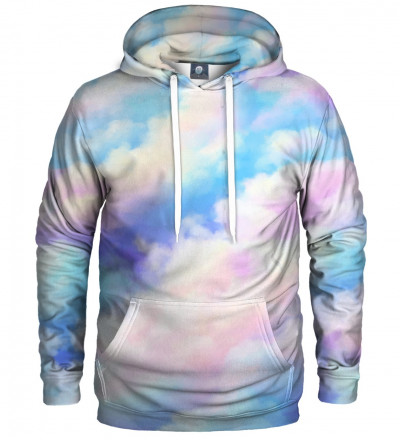 hoodie with colorful clouds motive