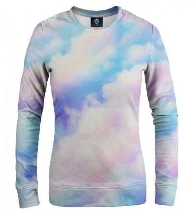 women sweatshirt with colorful clouds motive