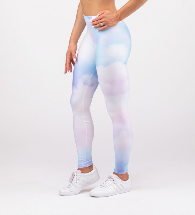 leggings with colorful clouds motive