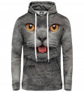 Bluza damska z kapturem British cat