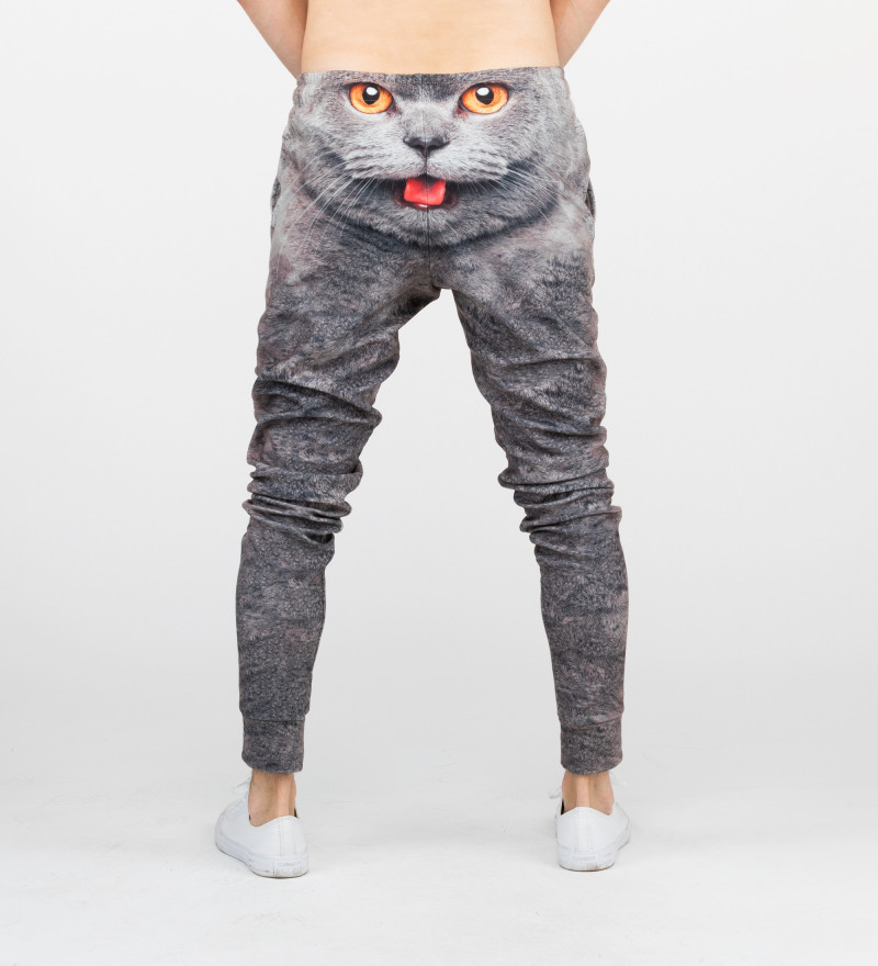 sweatpants with cat motive