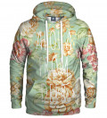 hoodie with flowers motive