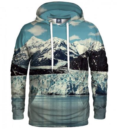 bluza z kapturem z motywem gór zimą