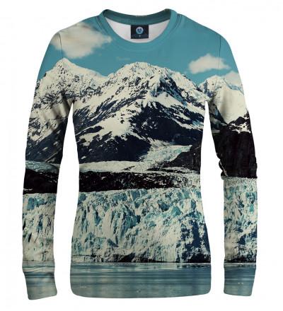 sweatshirt with snowy mountains motive