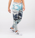 sweatpants with snowy mountains motive