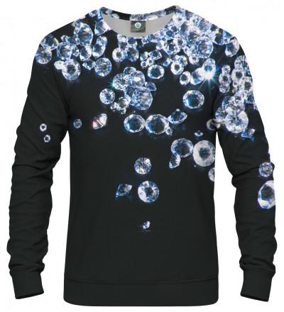 sweatshirt with diamonds motive