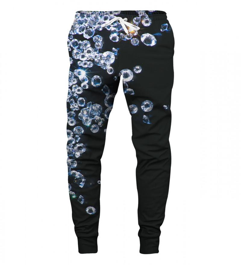 spodnie z motywem diamentów