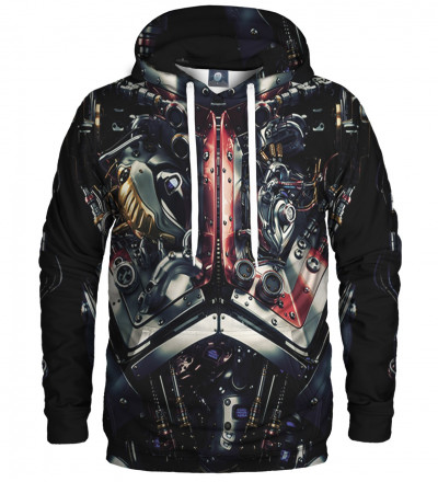 hoodie with machine motive