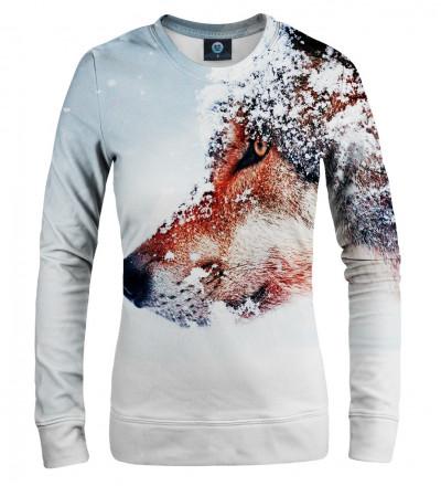 damska bluza z motywem wilka w śniegu