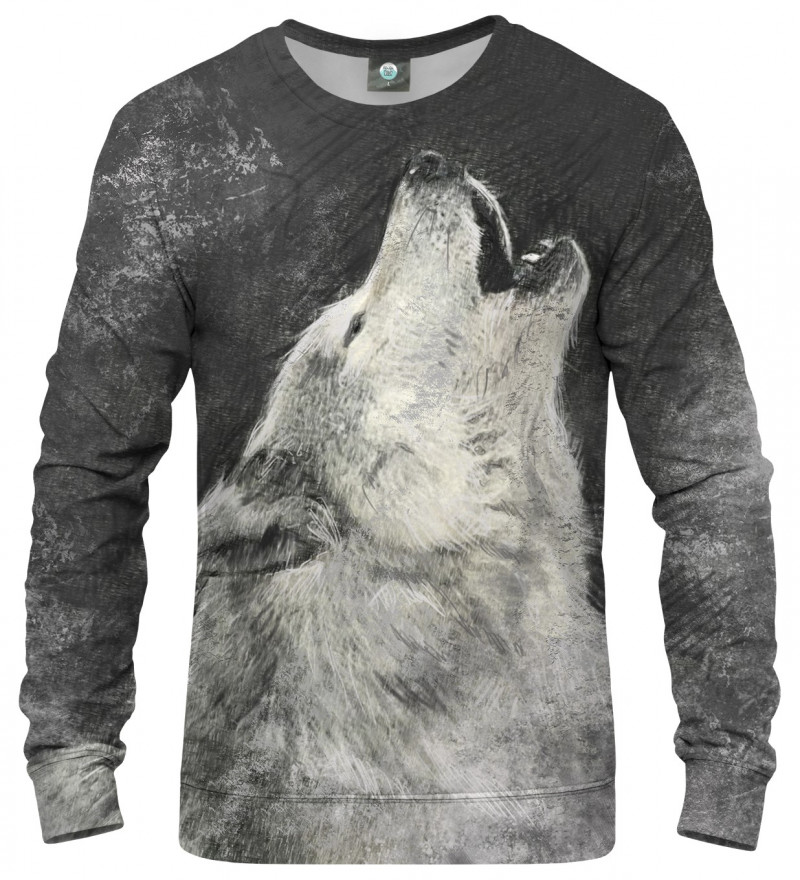 sweatshirt with wolf motive