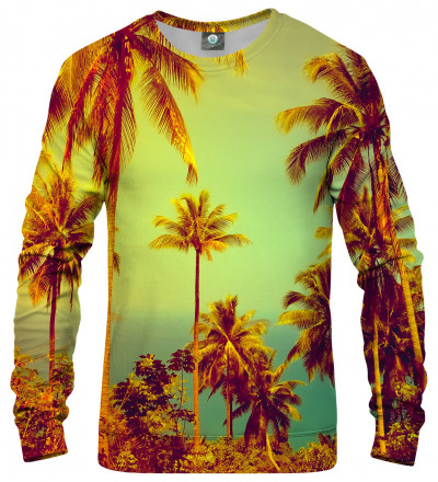 sweatshirt with palmtrees motive