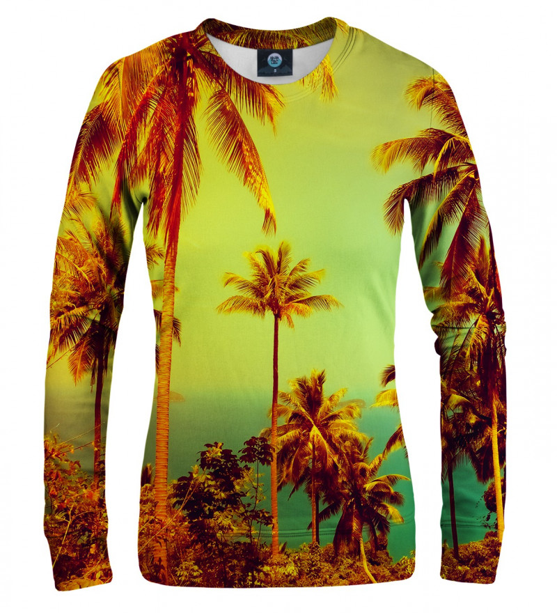 women sweatshirt with palmtrees motive