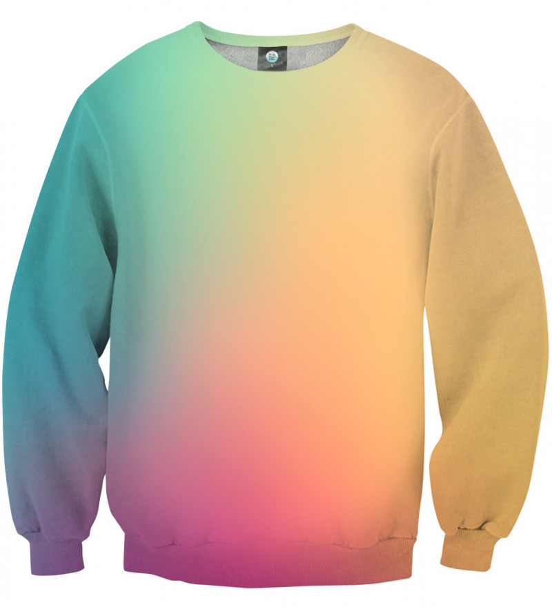 sweatshirt with colorful ombre motive