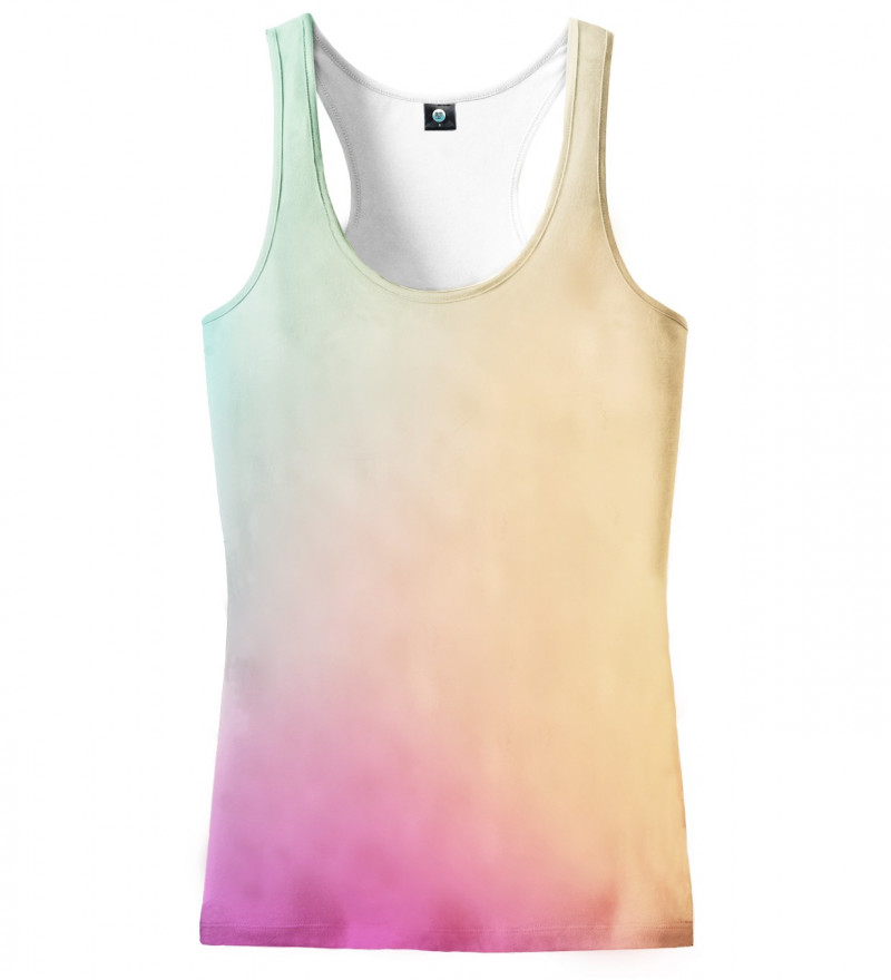 tank top with colorful ombre motive