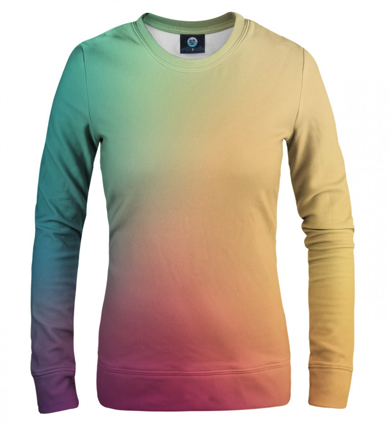 women sweatshirt with colorful ombre motive
