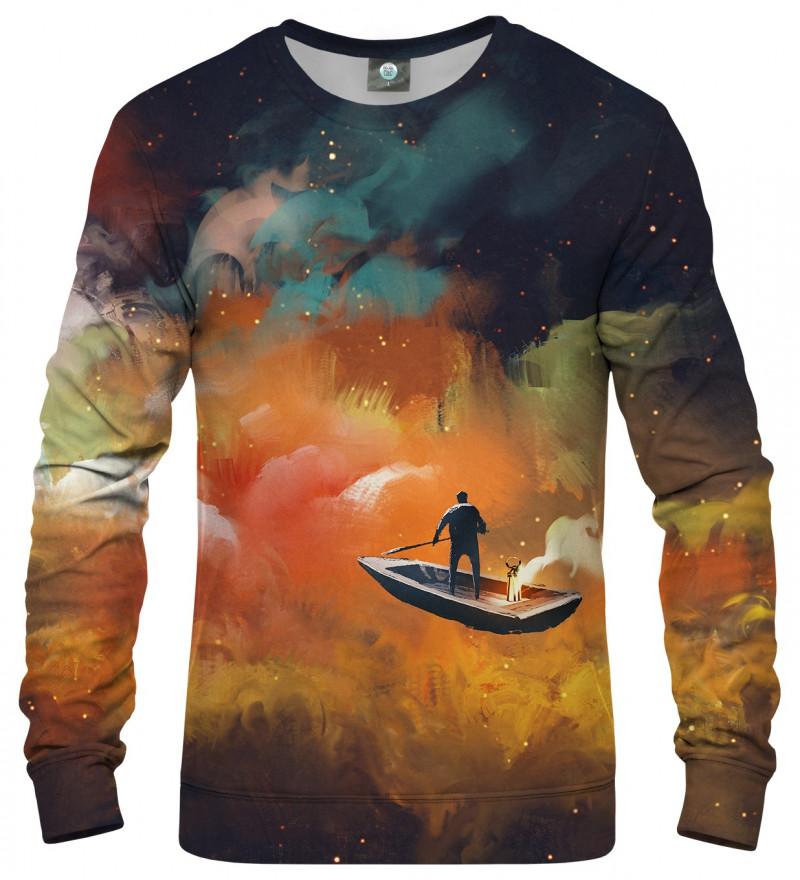 sweatshirt with sailing boat motive
