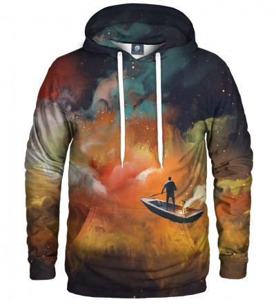 hoodie with sailing boat motive