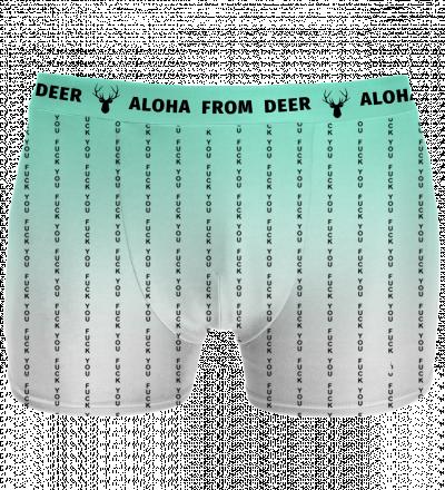 underwear with fk you inscription
