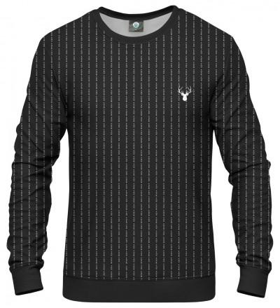 black sweatshirt with fk you inscription
