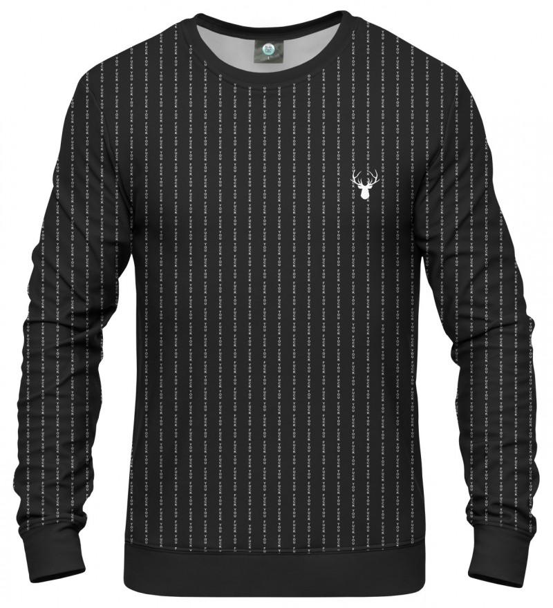 czarna bluza z napisem fk you