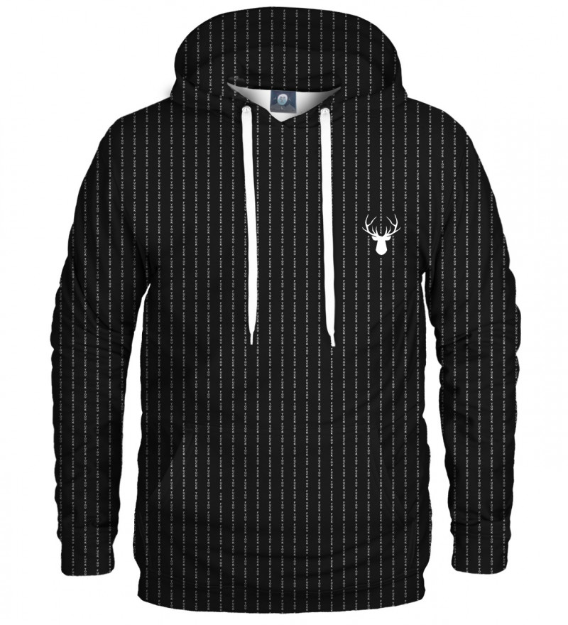 black hoodie with fk you inscription