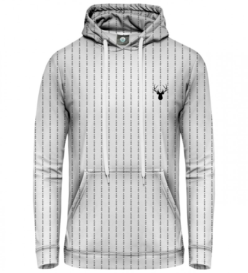 white women hoodie with fk you inscription