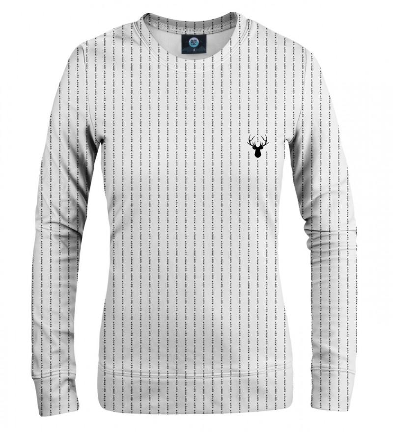 white women sweatshirt with fk you inscription
