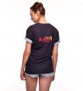 black women tshirt with aloha from deer
