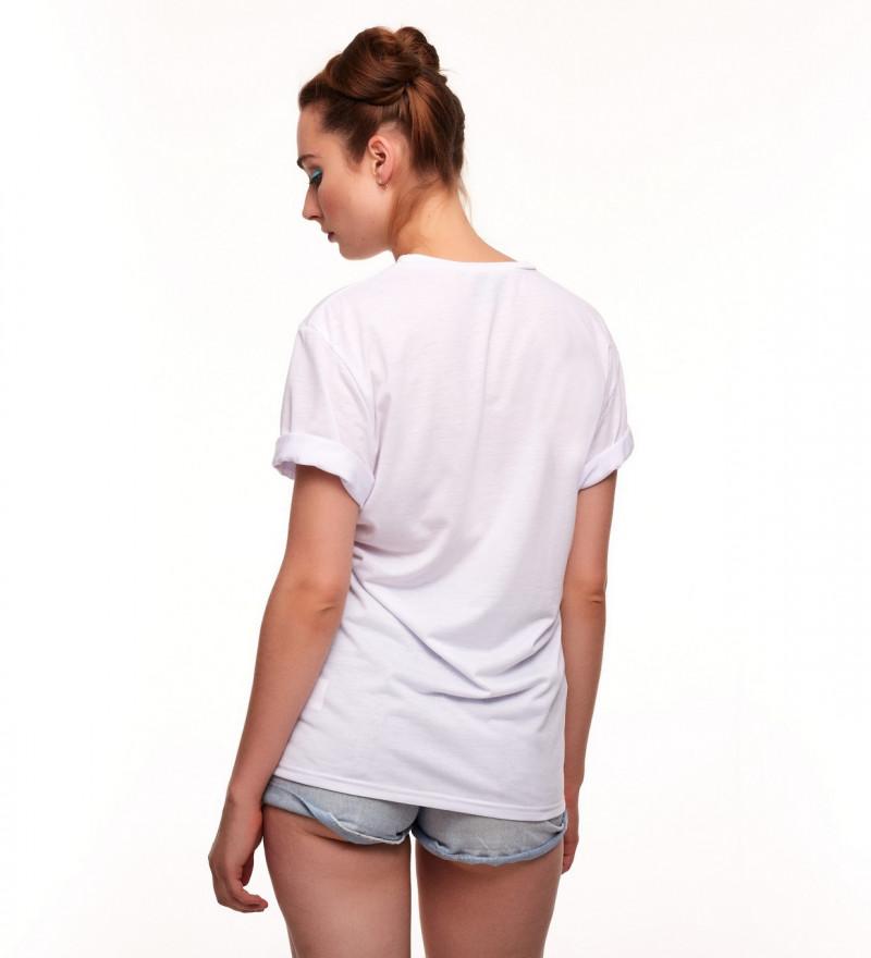 biała koszulka z napisem aloha from deer