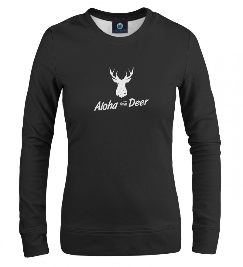 czarna damska bluza z napisem aloha from deer