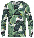 sweatshirt with green leaves motive