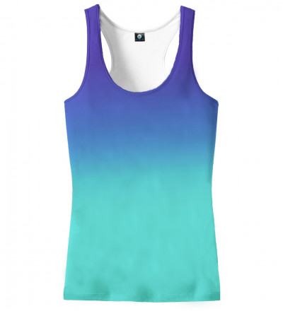 blue ombre tank top