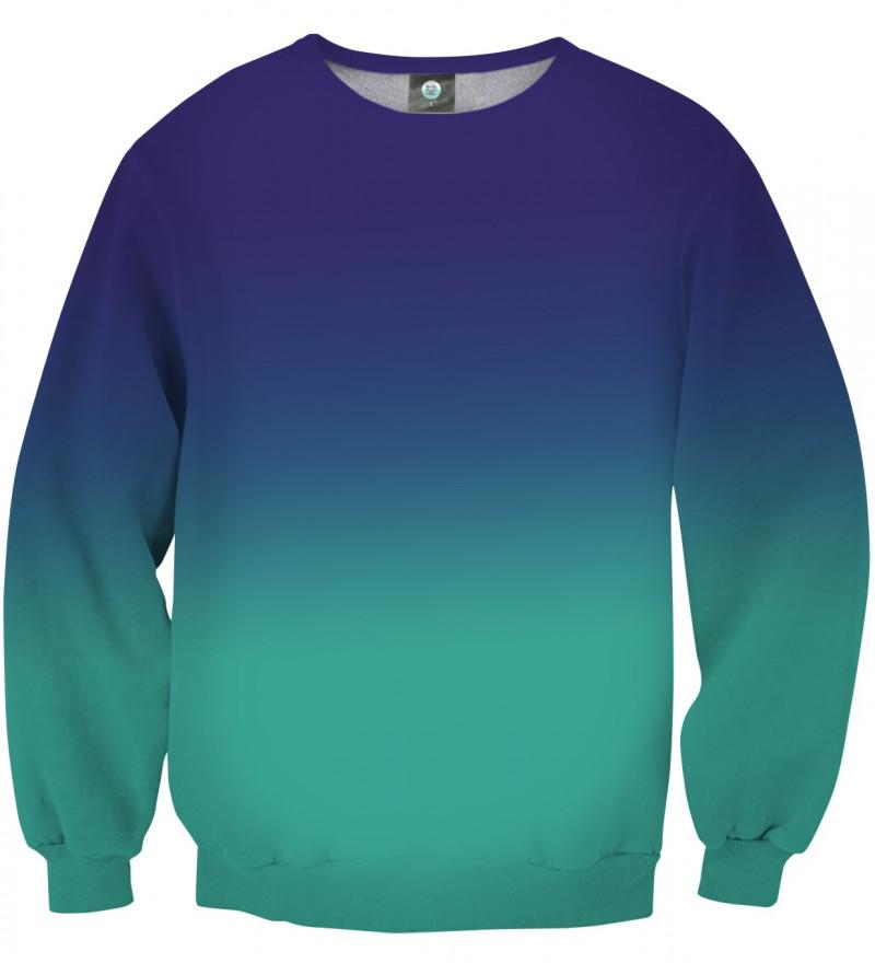 blue ombre sweatshirt