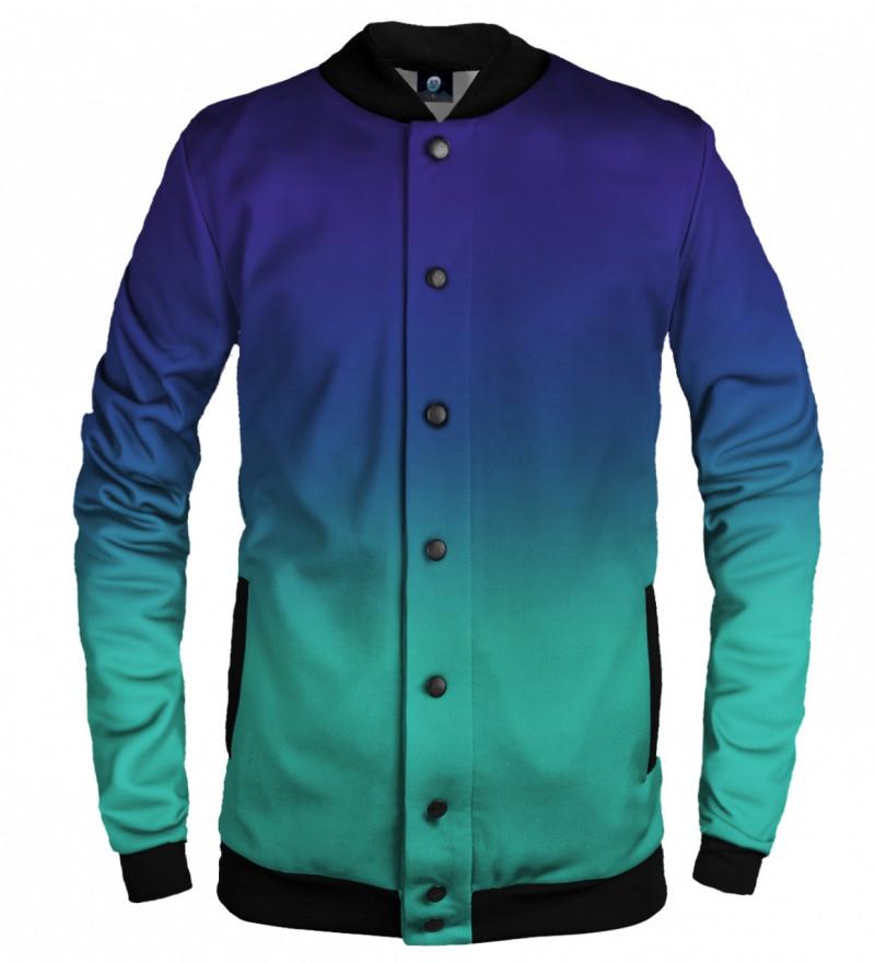 blue ombre basketball jacket