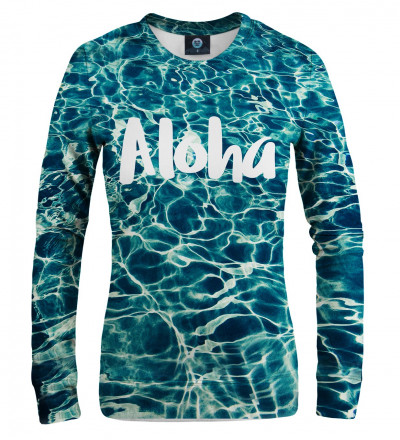 women sweatshirt with aloha inscription