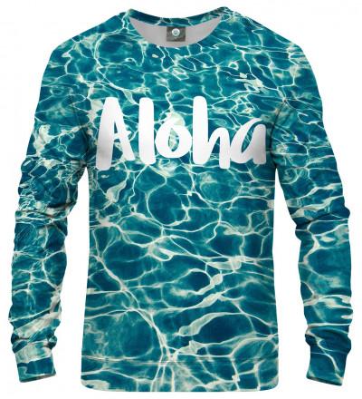 sweatshirt with aloha inscription