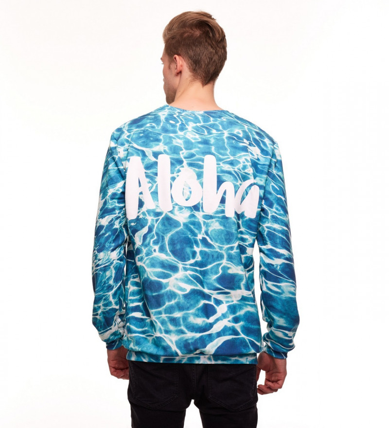 sweatshirt with aloha inscription