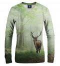 women sweatshirt with forest and deer motive