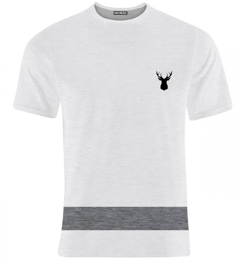 white sweatshirt with deer logo